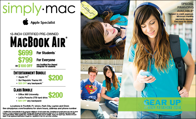Simply Mac Back to School 2014 Newspaper Ad