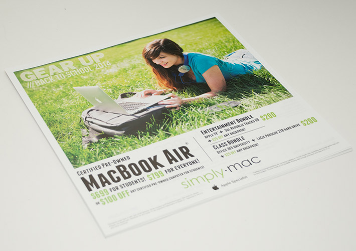 Simply Mac Back to School 2014 Newspaper Insert (front)